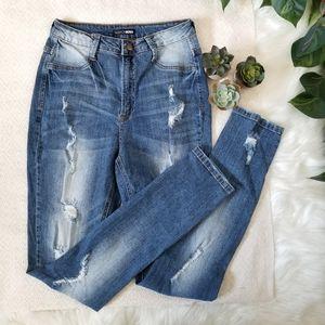 Fashion Nova Ripped Skinny Jean's